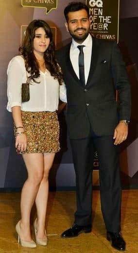 Ritika Sajdeh and Rohit Sharma