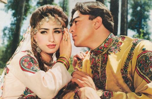 Reema Khan and Shaan Shahid in Film Bulandi (1990)