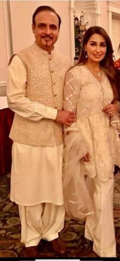 Reema Khan with Husband (S. Tariq Shahab)