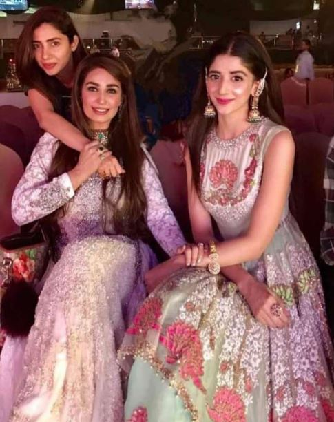 Reema Khan with Mahira Khan and Mawra Hocane