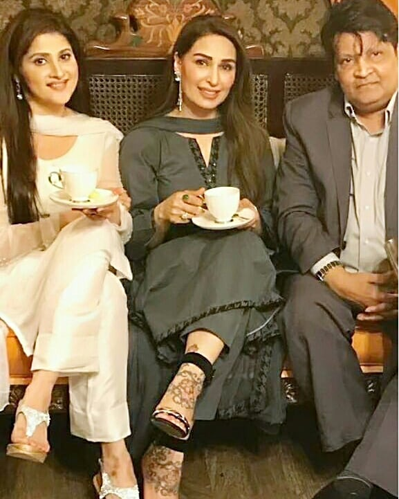 Reema Khan with Sahiba and Umer Shairf
