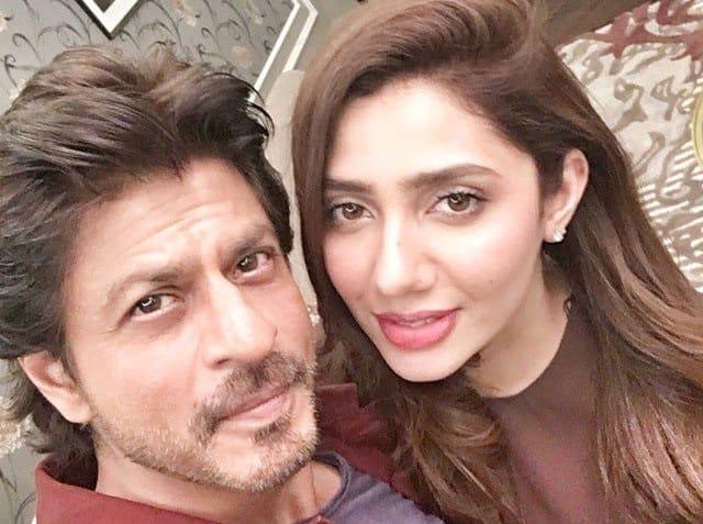 Mahira Khan with Shahrukh Khan