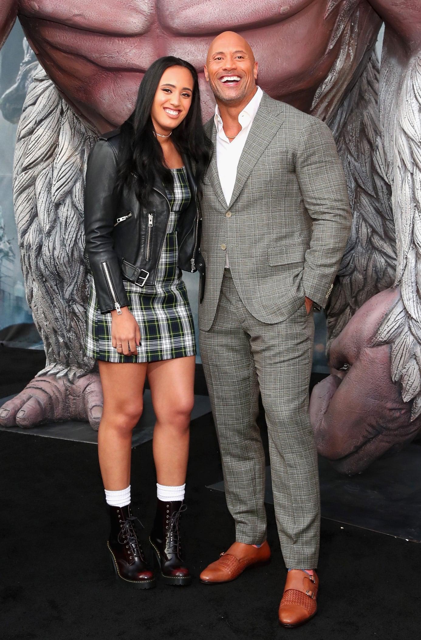 Dwayne Johnson The Rock with Daughter Simone Alexandra Johnson