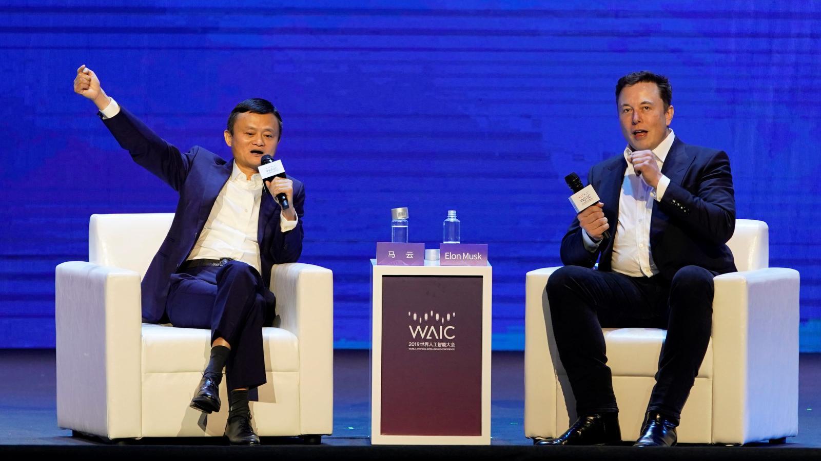 Elon Musk and Jack Ma