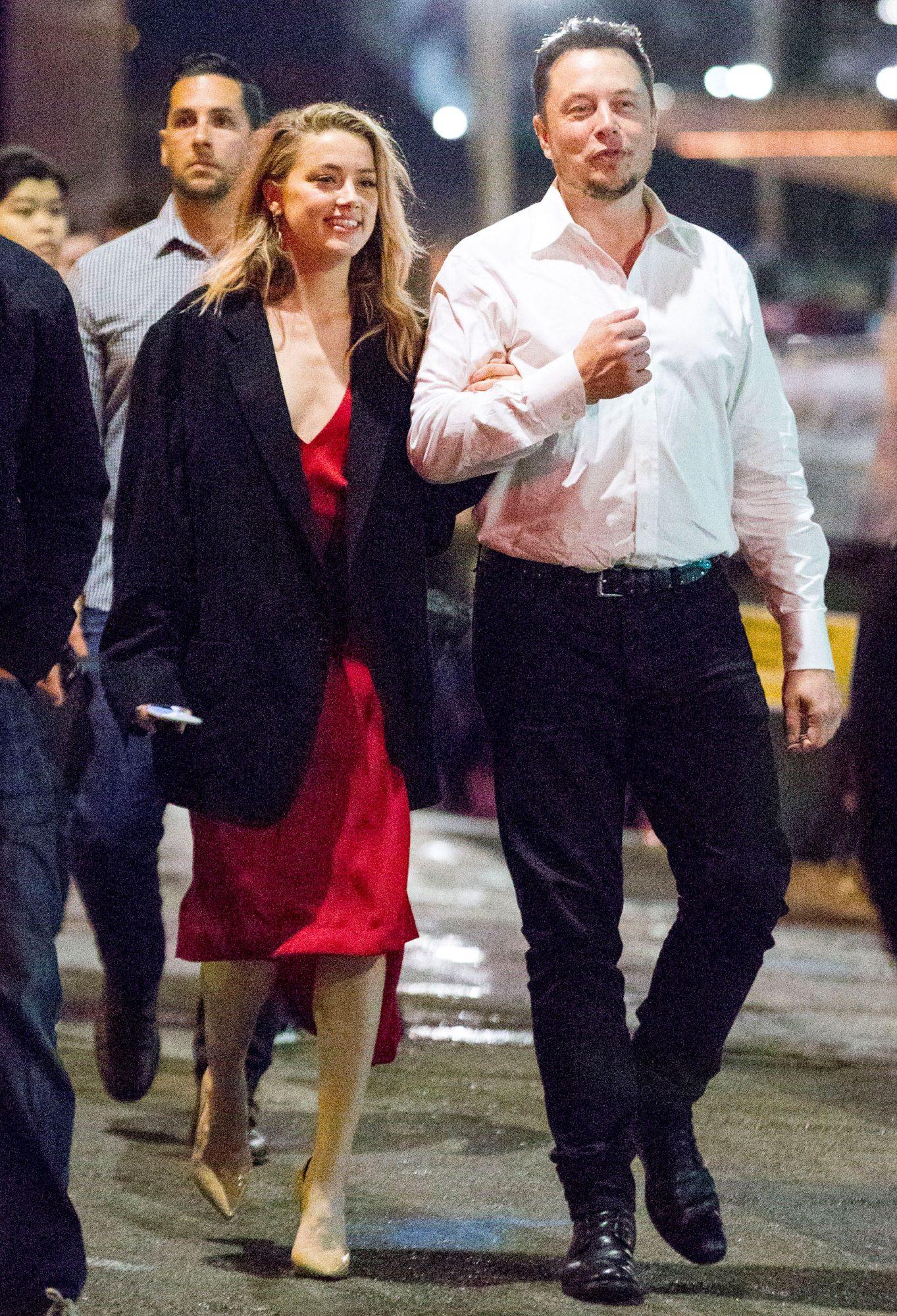 Elon with Ex-Girlfriend Amber Heard