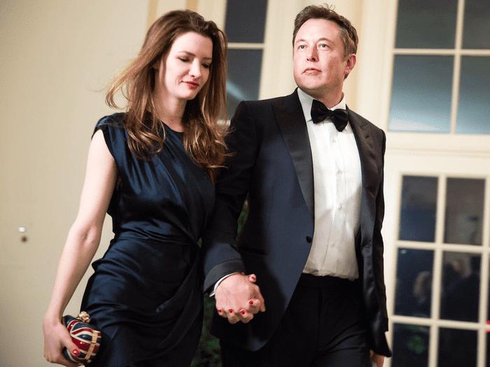 Elon Musk with Ex-Wife Talulah Riley