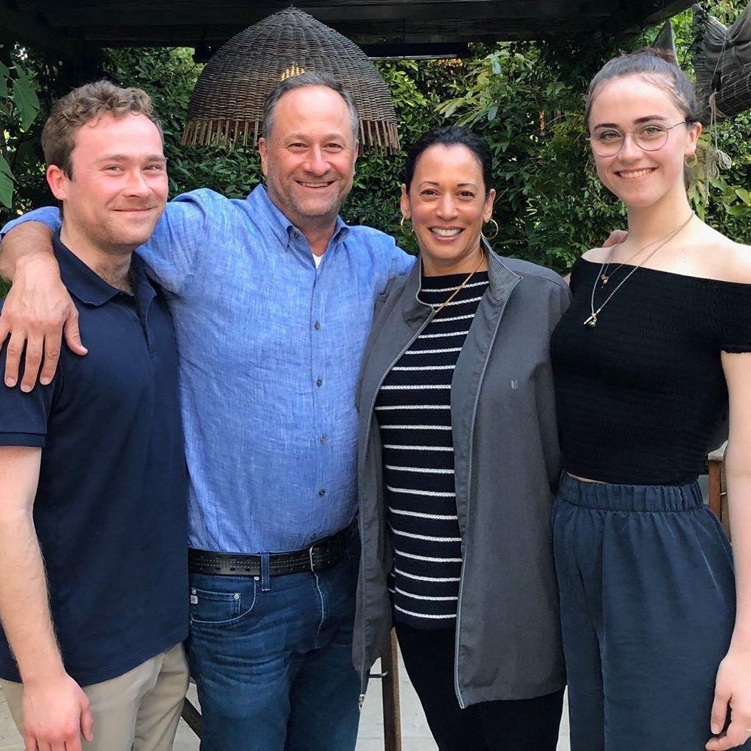 Kamala Harris with Stepchildren Cole and Ella Emhoff and Husband