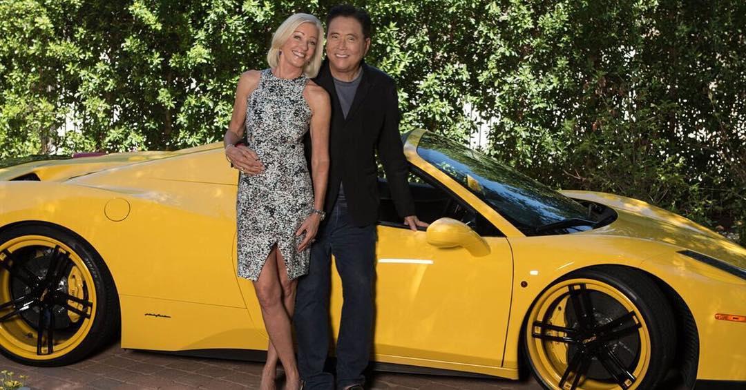 Kim Kiyosaki with Husband Robert Kiyosaki and Car